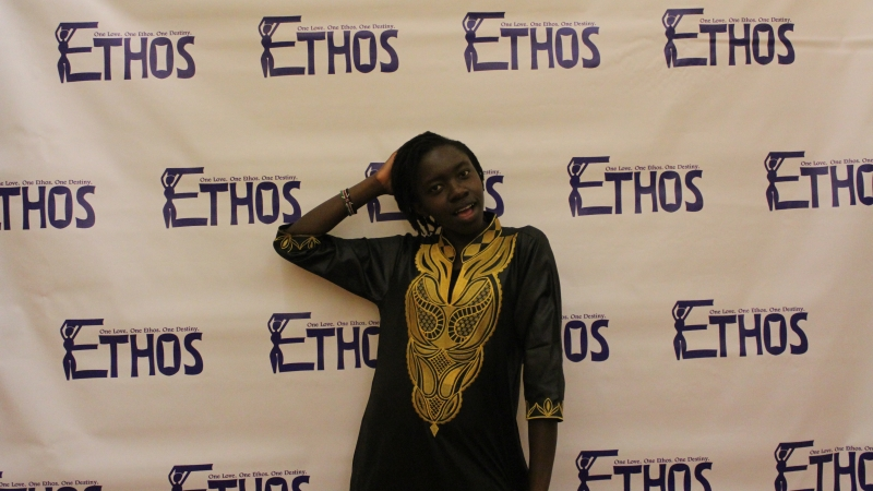 Student posing for the ethos gala