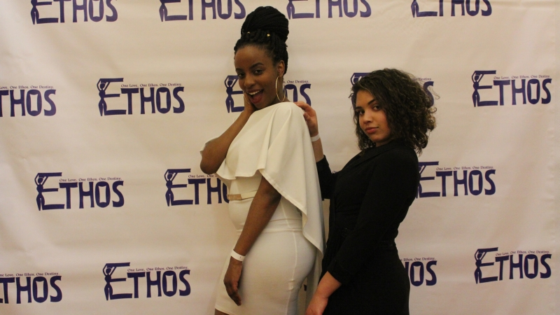 Students posing for the Ethos gala