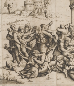 Augustin Hirschvogel, The Massacre of the Innocents, 1545. Etching printed from three plates, 292 x 519 mm. Museum purchase, The Dorothy Johnston Towne (Class of 1923) Fund, 2007.99