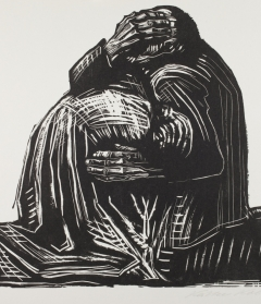 "Käthe Kollwitz. The Parents (plate 3) from the portfolio ""War,"" 1923.  Sheet: 18 x 22 in. (45.7 x 55.9 cm).  Museum purchase, Marjorie Schechter Bronfman '38 and Gerald Bronfman Endowment for Works on Paper.  2014.127.3"