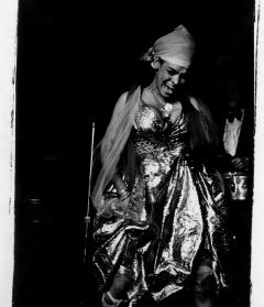 Cuban singer La Lupe performing in New York City, 1970. Gelatin silver print. Gift of  Katherine Hall Page (Class of 1969).