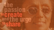 """Image of Professor Salem Mekuria with her lecture title overlaid, """"The Passion to Create and the Urge to Share."""""""
