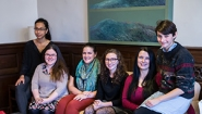 The six students named as 2015 Daniels Fellows