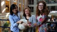 Huiying Bernice Chan '16, Alyssa Brody '16 and Emma Howey '16.