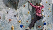 Rock climbing demonstrated by Katherine Morris '17.