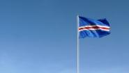 cape verde flag against blue sky