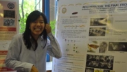 Wellesley student researcher and her poster
