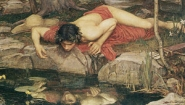 "Detail from John Waterhouse painting ""Echo and Narcissus"""