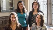 Nora Mishanec '14, Rosa Guzman '14,  Echo Yue '14, and Ava Bramson '14