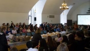 gathering of Wellesley staff, students, and faculty in Academic Council Room