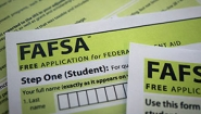 closeup of FAFSA form