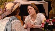 two actors emote in Noel Coward's Hay Fever