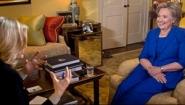 screenshot from Diane Sawyer Hillary clinton interview