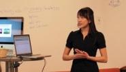Heather Petrow giving presentation