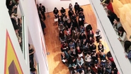 crowded galleries in Davis museum