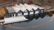 aerial view boathouse