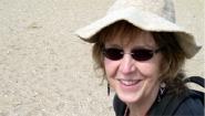 Carol Ann Paul in sunhat and sunglasses