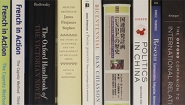 spines of books showing titles