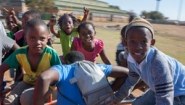 Mamelodi kids playing, photo by Michelle Kang