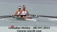 Kimball rowing in double scull