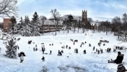 view from top of sledding hill