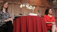 C.A. Webb on stage with Sheryl Sandberg