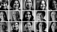grid of headshots from alumnae network