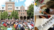 3 shots of summer activity at Wellesley