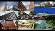 collage of 10 buildings