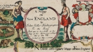 A portion of a colonial era New England map