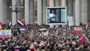 crowds greet new pope
