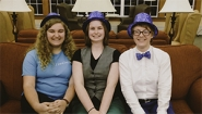 Wellesley's winning programmers, funny hats