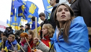 demonstrators in Kiev
