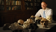 Van Arsdale with fossils