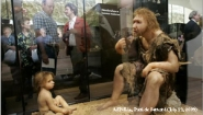 diorama with Neanderthals