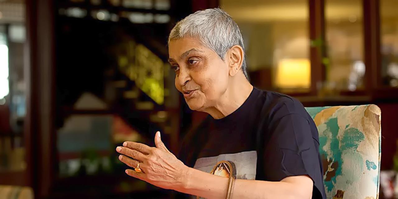 Gayatri Chakravorty Spivak speaks in an interview.