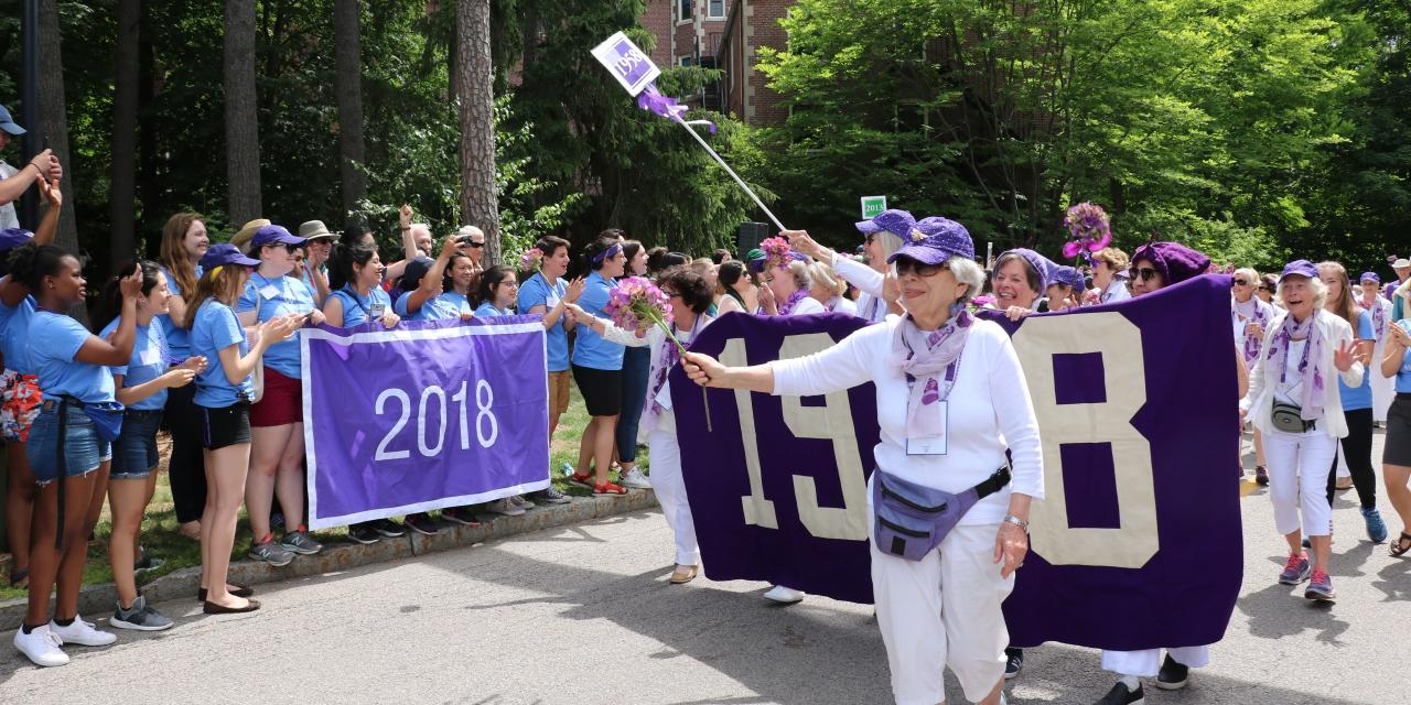 Annual alumnae parade is a joyful display of Wellesley pride.