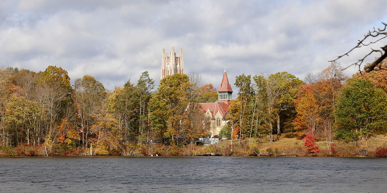 a view of Wellesley and Lake Waban