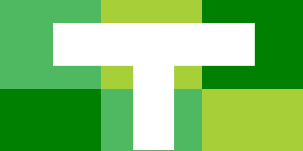 The Tanner Conference word mark: A white T on a backdrop of green rectangles.
