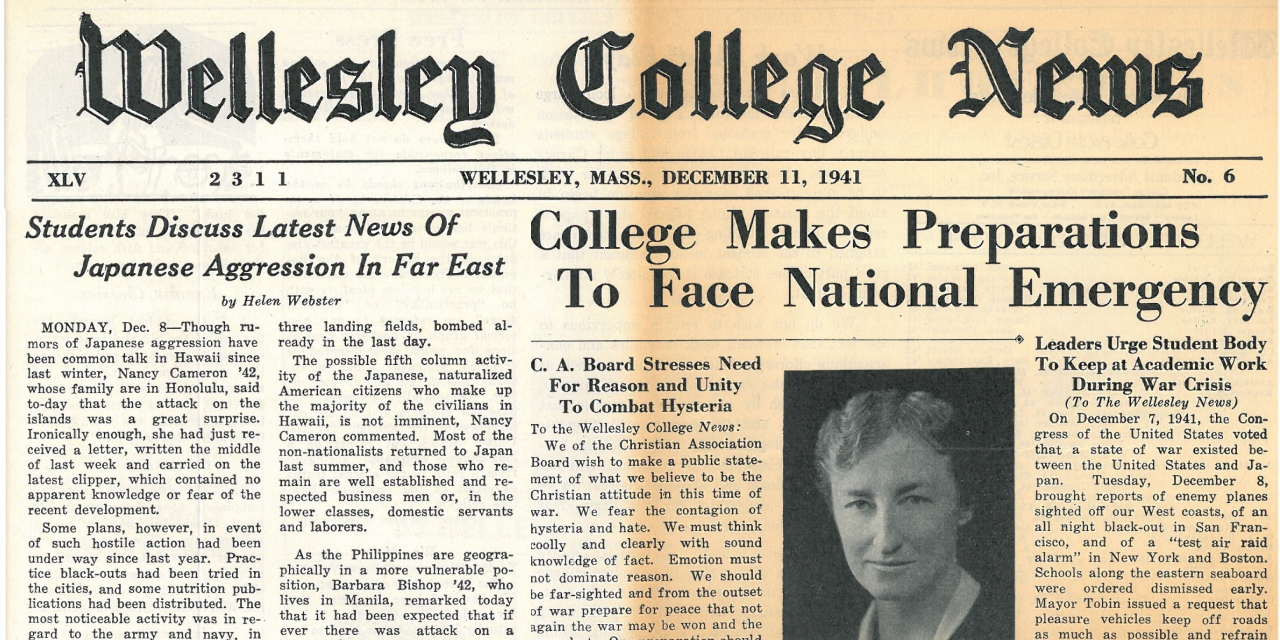 Wellesley College News, December 11, 1941