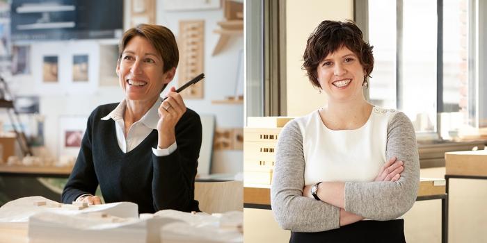 Joan Soranno and Rebecca Celis '03