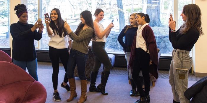 Wellesley's Snapchat reporters