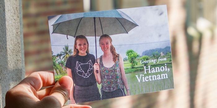 Zoe and Alexandra in Hanoi, Vietnam