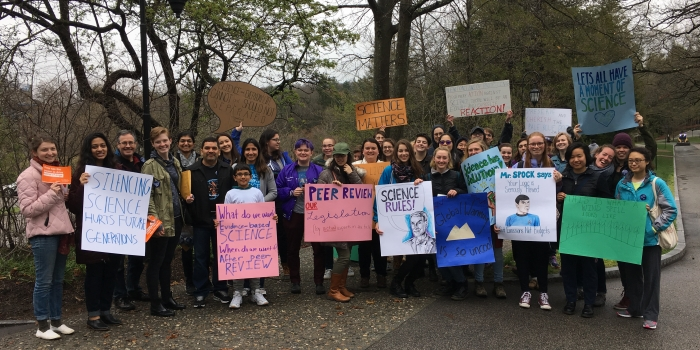 Wellesley Faculty, Staff and Students Participate in the the Science March