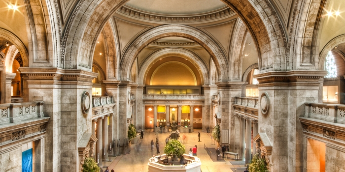 Main lobby of the Metropolitan Museum of Art