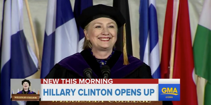 Hillary Clinton commencement speech on GMA