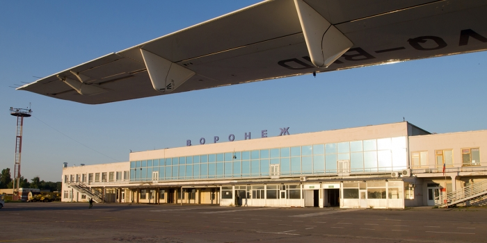 Voronezh airport in Russia