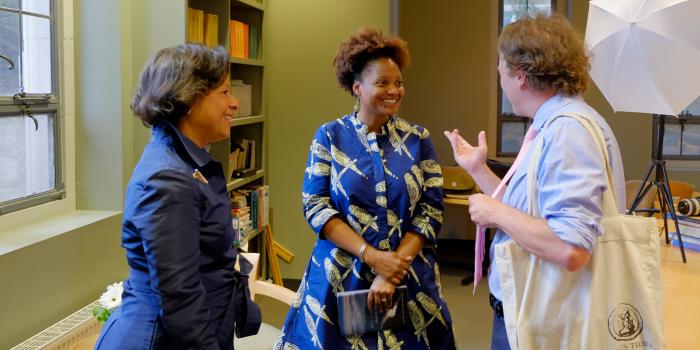 Tracy K. Smith talks with Paula A. Johnson and Dan Chiasson.
