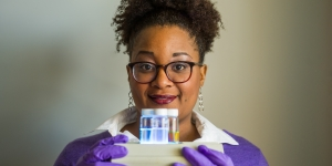 Malika Jeffries-EL '96, associate professor of chemistry at Boston University.