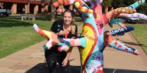 Michelle Vogelzang '13 Created the AIDS SolidariTree, an Interactive Sculpture to Help Promote Understanding at This Year's International AIDS Conference